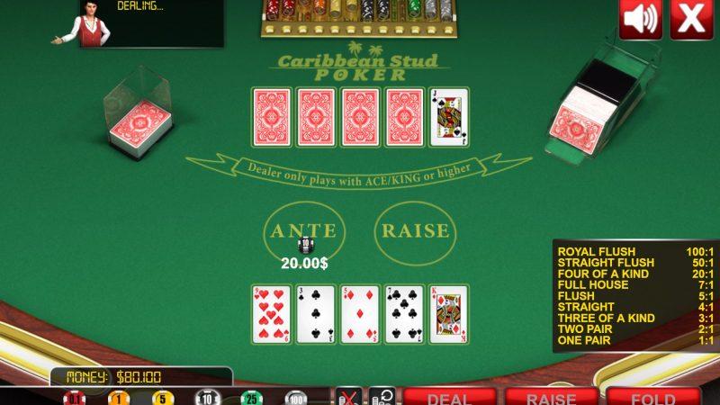 Online Casino Caribbean Stud Poker